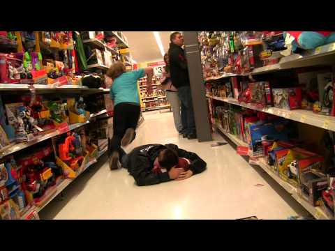 Public Prank - Playing Football In Stores