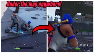 Get under the map anywhere with this new glitch method in season 7 (New) Fortnite glitches PS4/Xbox