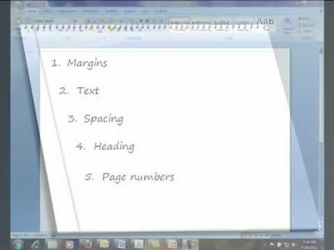 MLA 7th ed (How do I format my paper using MLA?) - YouTube