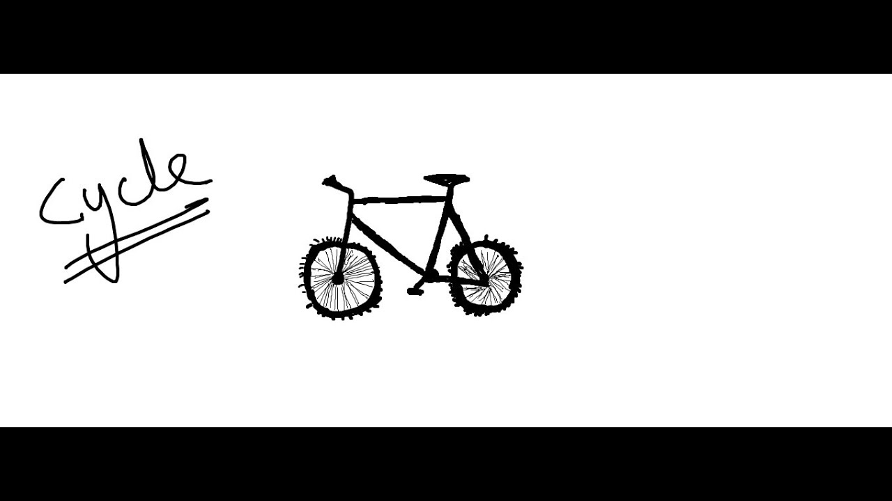 easy kids drawing lessonshow to draw cartoon bicycle for kids youtube