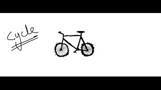 Easy Kids Drawing Lessons:How to draw cartoon Bicycle for KIDS