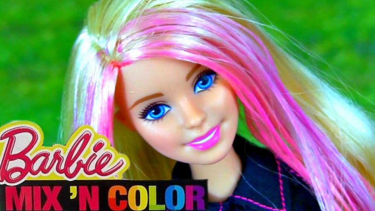Barbie hair coloring games - Barbie Mix N Color Doll How To Color Barbie Hair Fun Playtime Barbie Video Youtube