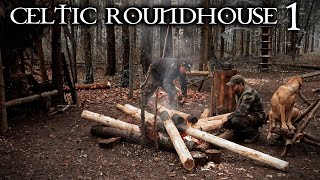 Building a Celtic Roundhouse with Hand Tools: Bushcraft Project (PART 1)