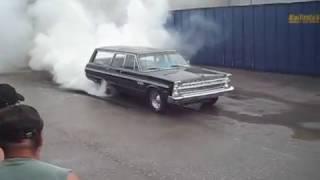 1965 Fury Wagon Burnout