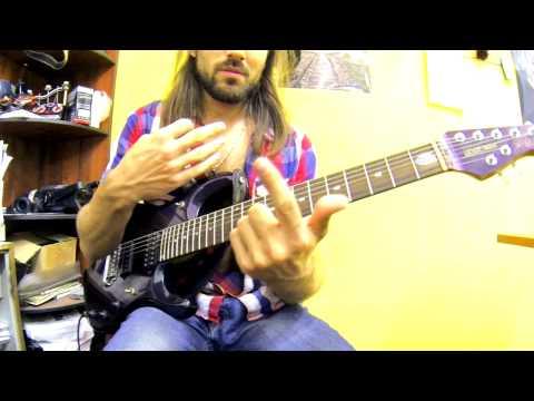 Эффективное Гитарное упражнение на беглость левой руки. Guitar Lesson.