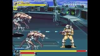 Alien vs Predator (Arcade) - (1 coin - Predator Warrior) Full game + comentarios