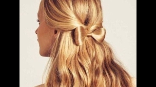 як зробити гарну зачіску бантик