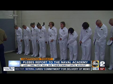 Naval Academy Class of 2021 arrives for Induction Day