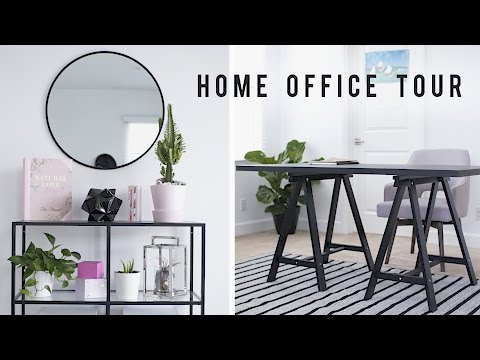 Home Office Room Tour + Desk Decor 2017 🏡 | ANN LE