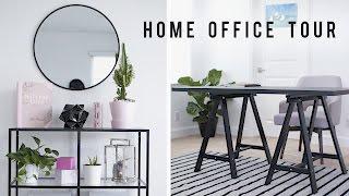 Home Office Room Tour + Desk Decor 2017