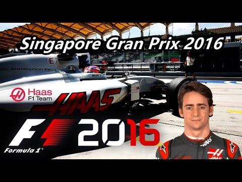 Simula Race - F1 2016 PC - #SingaporeGP - Esteban Gutierrez - Haas - G27