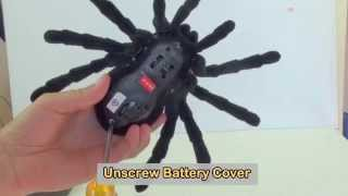 Scary Tarantula Spider - Remote Control Quick Unboxing Instructions Demo