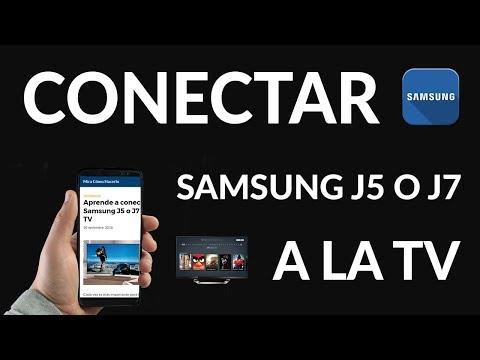 ¿Cómo Conectar un Samsung J5 o J7 a la TV?