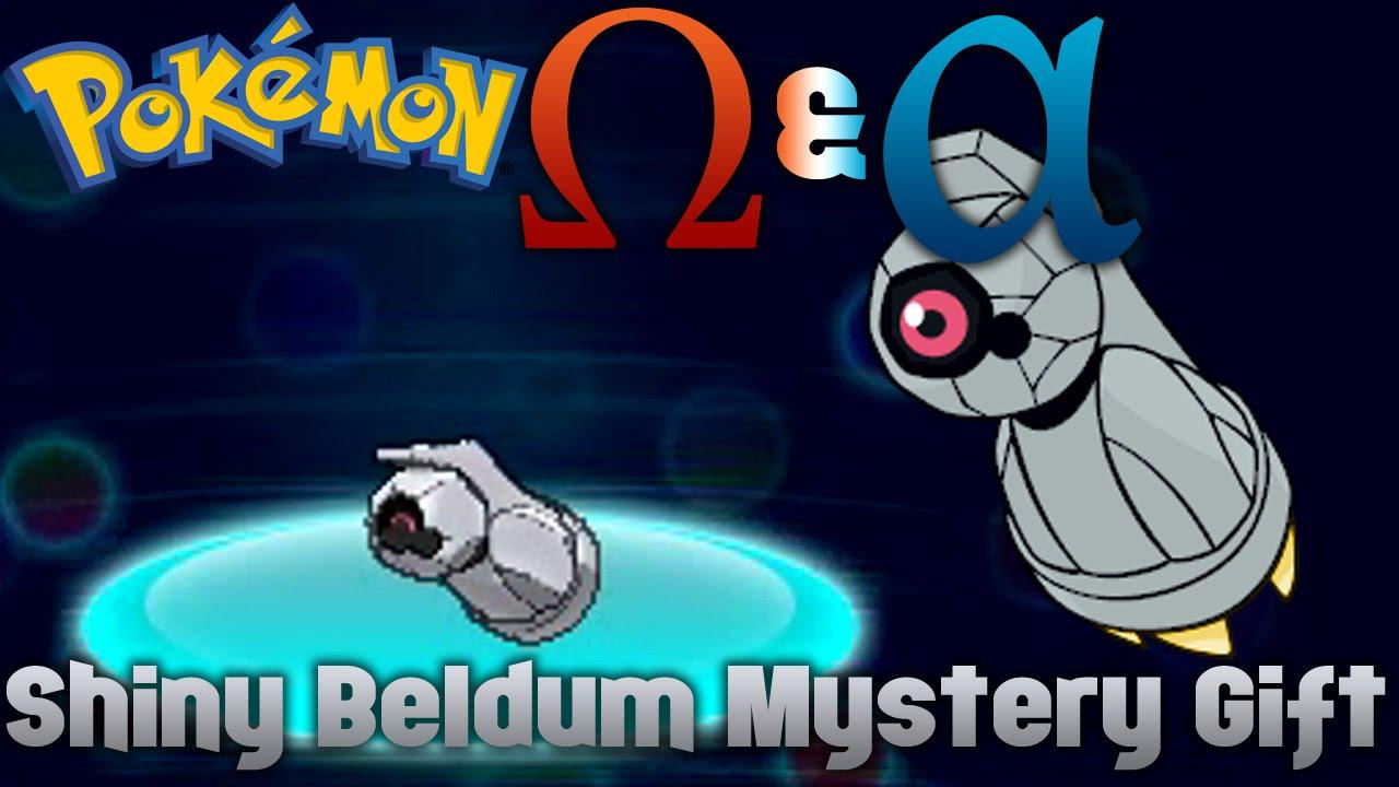Pokémon Omega Ruby Alpha Sapphire Shiny Beldum Mystery Gift
