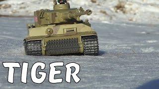 Тест-драйв ТИГРА по снігу! Тест знаряддя на пробиття ... Р/у танк Taigen German Tiger I
