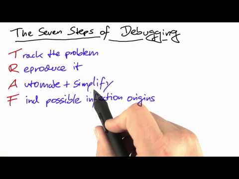 The Seven Steps of Debugging - Software Debugging