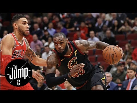 LeBron James practicing Michael Jordan's moves in Chicago? | The Jump | ESPN