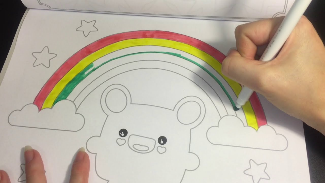 Coloring Time Episode 5 Cute Cuddly Book Kawaii Speed Page W Markers