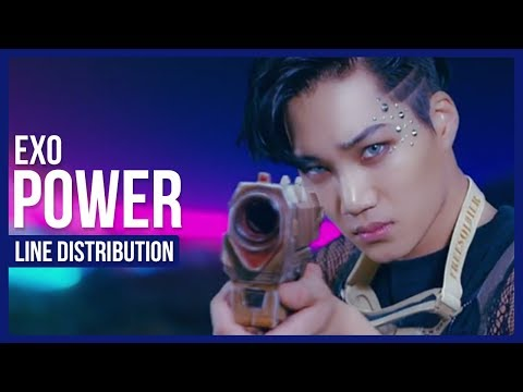 EXO - Power Line Distribution (Color Coded)   엑소 - 파워