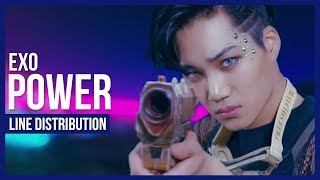 Video EXO - Power Line Distribution (Color Coded) | 엑소 - 파워 download MP3, 3GP, MP4, WEBM, AVI, FLV Agustus 2018