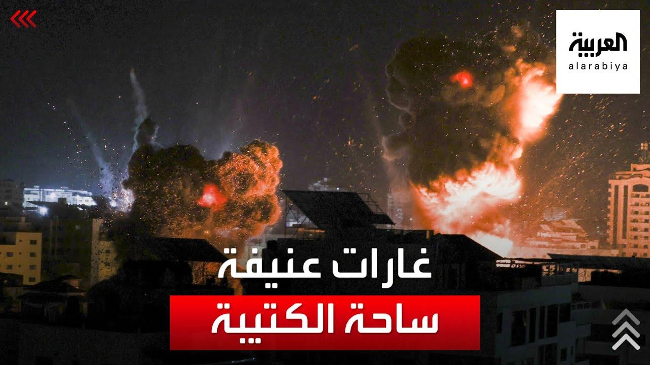 شاهد | القصف الإسرائيلي لمنطقة الكتيبة غرب غزة.  - نشر قبل 16 دقيقة