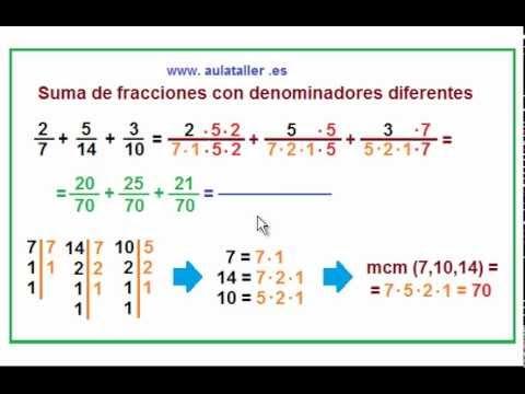 Suma De Fracciones Con Distinto Denominador Paso A Paso Youtube