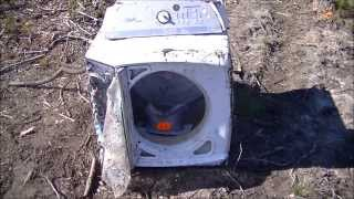 Exploding washing machine thanks to Southern Thunder