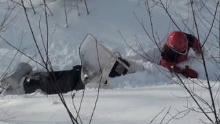 How to un-stuck your snowmobile.