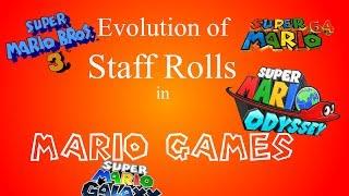 Evolution of Staff Rolls in Mario Games (1988 - 2017)
