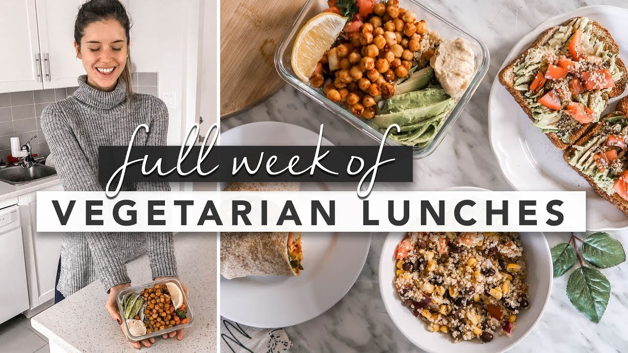 Healthy Vegan/Vegetarian Lunch Ideas From Monday to Friday | by Erin Elizabeth