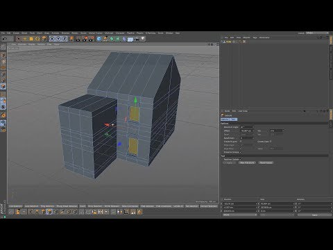 Cinema 4D Tutorial - How to Model a House 02 Victorian Terra