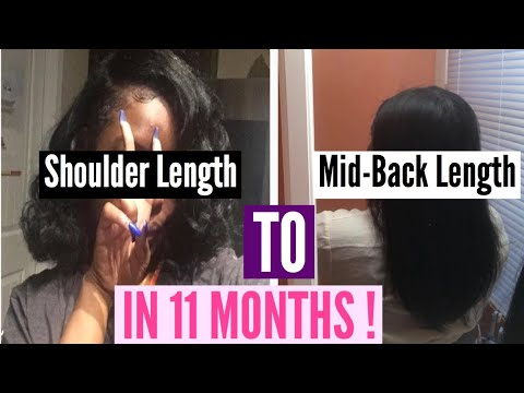 How I Grew My Hair Mid-Back Length In Less Than A Year ...