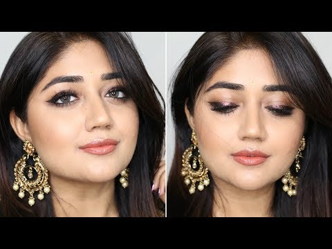 Party Makeup Tutorial With Glitter Liner 2018