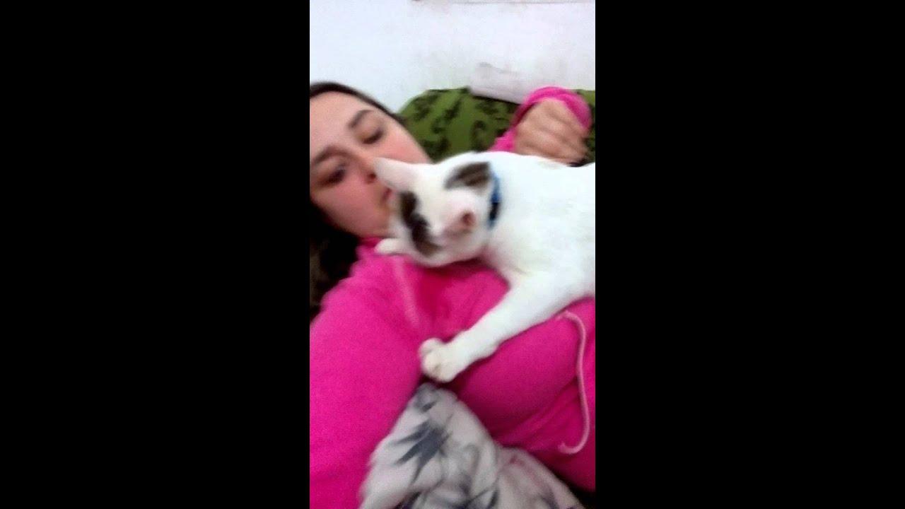 Gato mamando no peito da mulher [PUNIQRANDLINE-(au-dating-names.txt) 70