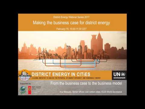 Webinar: Making the business case for district energy