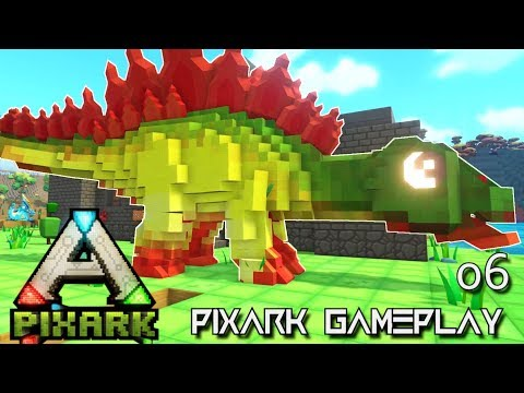 PixARK: EPIC STEGO TAME ALPHA TRIBE E06 !!! ( Pix ARK GAMEPLAY )