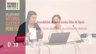 D13 Accesibilidad al centro escolar Odón de Apraiz ikastetxera irisgarritasuna edukitzea