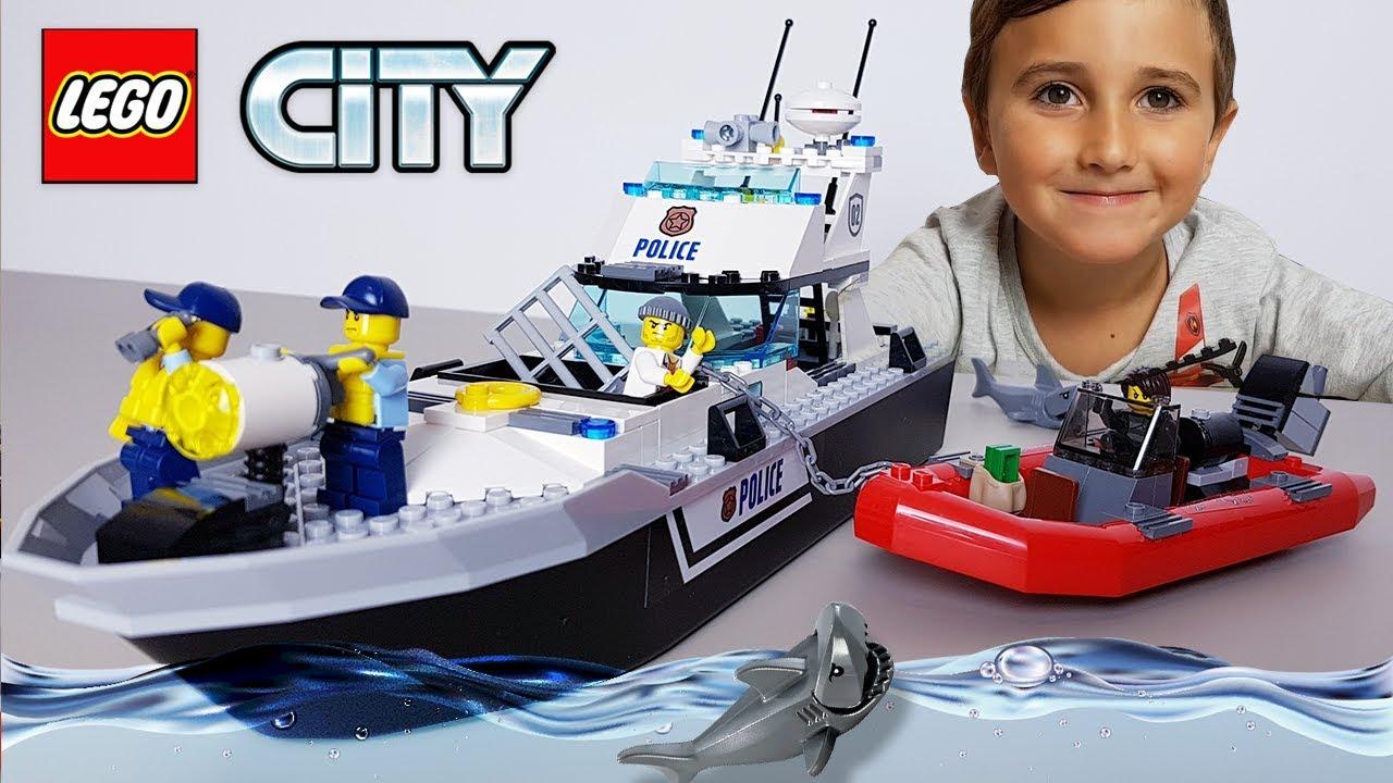 Lego City łódź Policyjna I Złodzieje 60129 Youtube