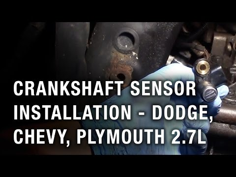 Crankshaft Sensor Installation - Dodge, Chrysler, Plymouth 2.7L
