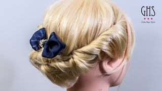 Repeat youtube video ミディアムボブ:ツイストアップヘアアレンジ | Twist hairdo