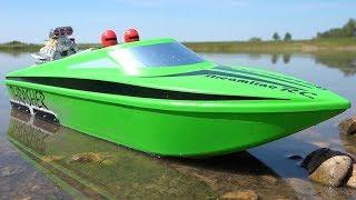 Upgraded 6s V2 Thrasher Xl Jolly Green Jet Boat W/ Bilge Pump From Streamlinerc! | Rc Adventures