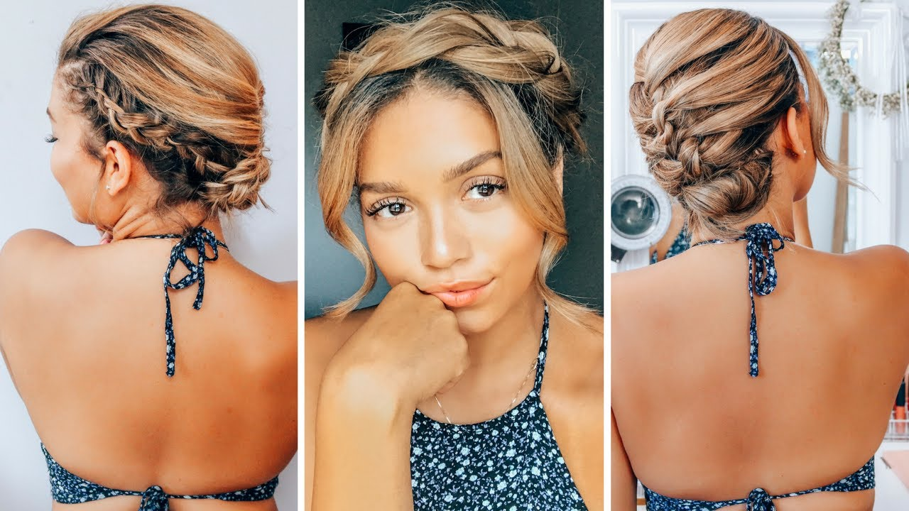 3 summer hairstyles to beat the heat | short to medium length | ashley bloomfield