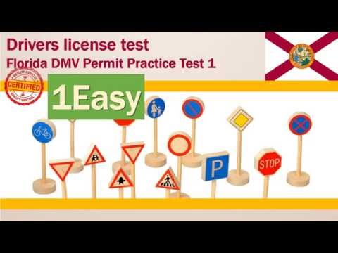 Drivers license test: Florida DMV Permit Practice Test# 1 (Easy) Mp3