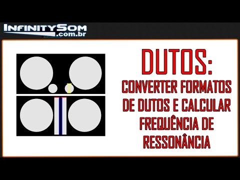 Como sintonizar a frequência de ressonância da caixa e converter formato do duto