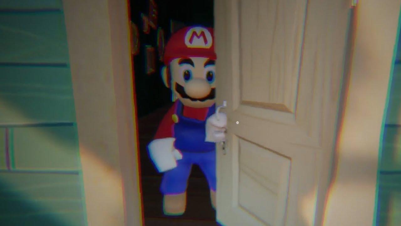 My New Neighbor Is Mario Hello Neighbor Mod Youtube