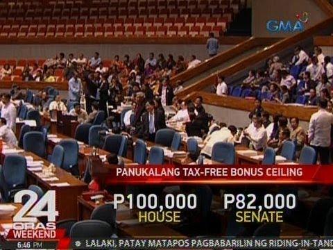 24 Oras: Kamara, isinusulong na gawing-tax free ang bonus na hindi lalampas ng P100,000