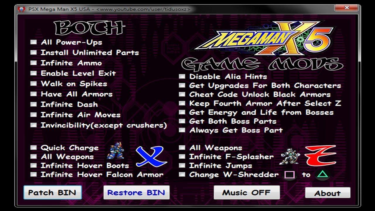 PSX Megaman X5 Tool