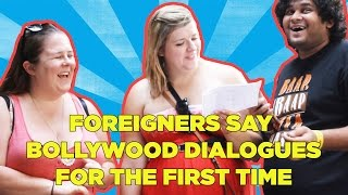 Gambar cover Foreigners Say Bollywood Dialogue For The First Time | Indian Youtuber | HulaHul TV