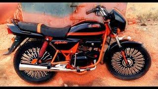 hero splendor pro bike modified with paint alloy wheel and radium wrap मॉडिफाइड स्प्लेंडर 3
