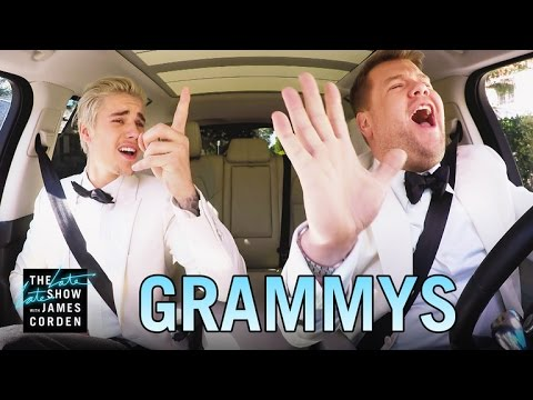 Justin Bieber & James Corden's Post-Grammys Drive